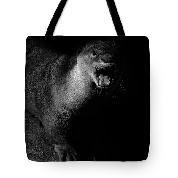 Otter Wars Tote Bag by Martin Newman