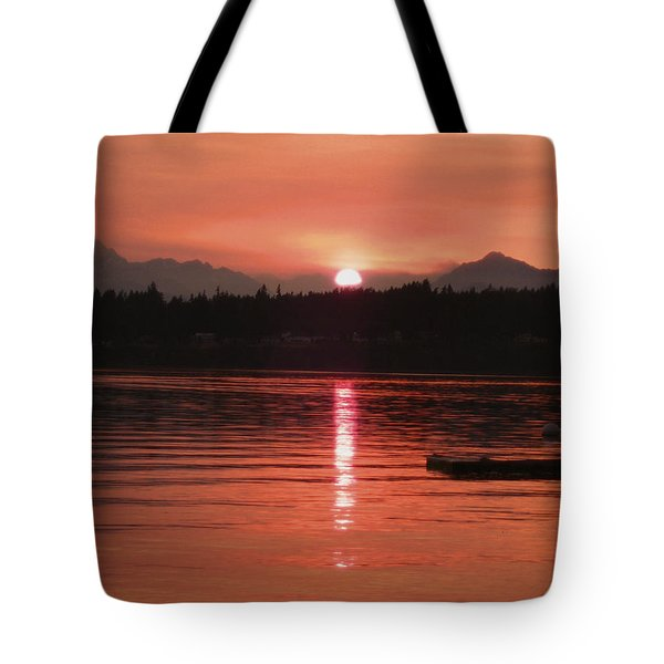 Our Beach At Sunset  Tote Bag by Kym Backland