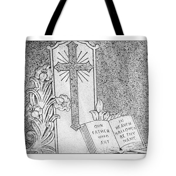 Our Father Who Art in Heaven Tote Bag by Crystal Wightman