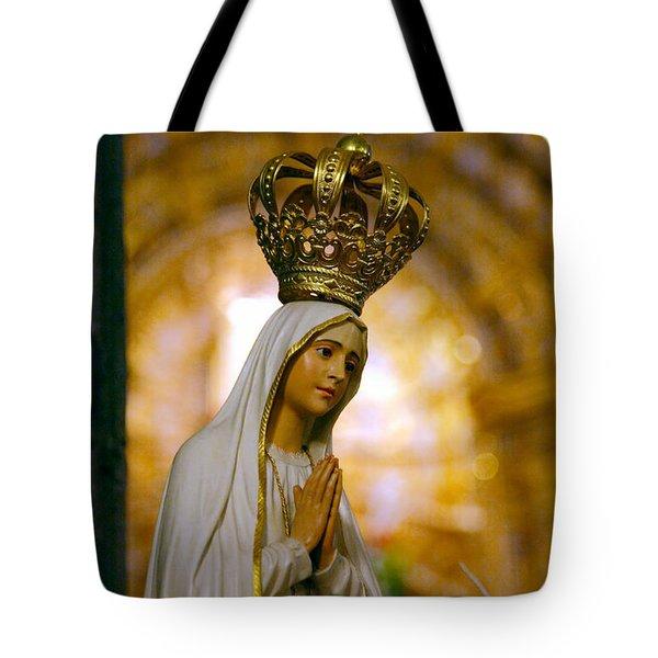 Our Lady Of Fatima Tote Bag by Gaspar Avila