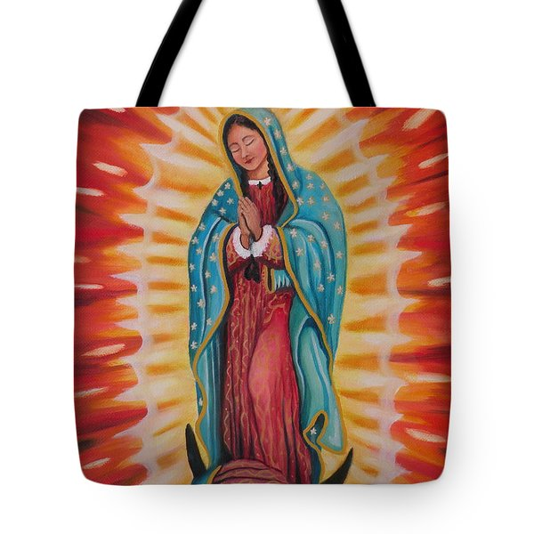 Our Lady Of Guadalupe Tote Bag by Lora Duguay