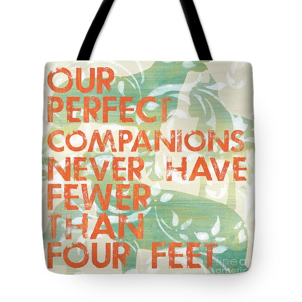 Our Perfect Companion Tote Bag by Debbie DeWitt
