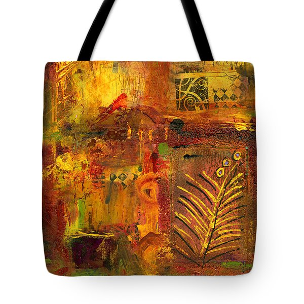 Out Back In His Workshop Tote Bag by Angela L Walker