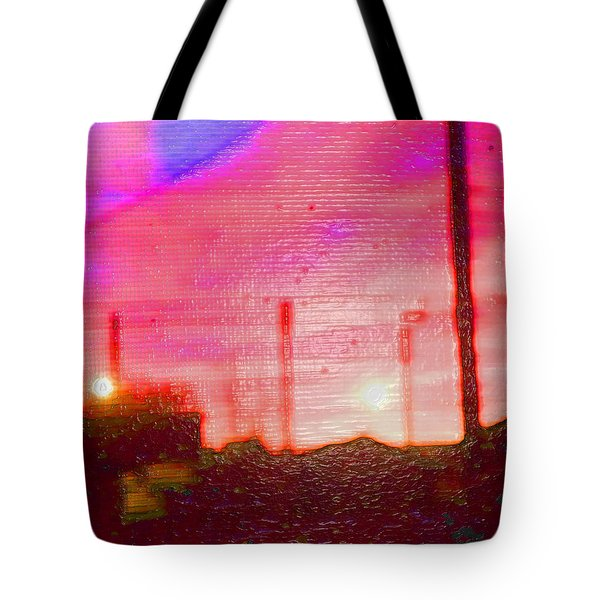 Out My Back Window 6 Am V3 Tote Bag by Lenore Senior