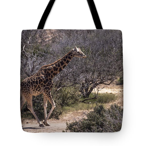 Out Of Africa Giraffe Tote Bag by Janice Rae Pariza