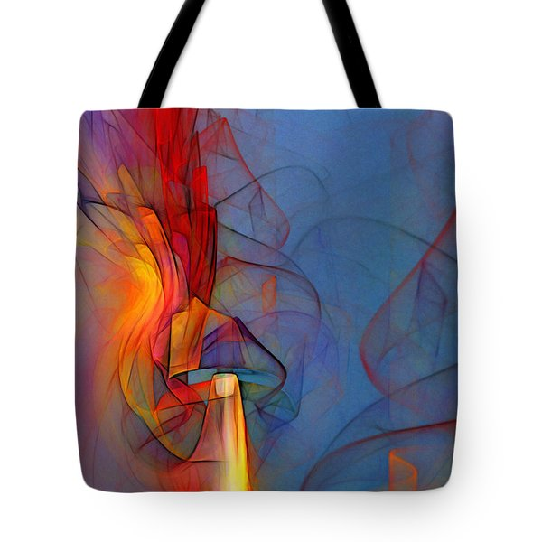 Out Of The Blue-abstract Art Tote Bag by Karin Kuhlmann