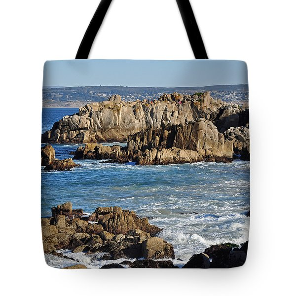 Outcroppings At Monterey Bay Tote Bag by Susan Wiedmann