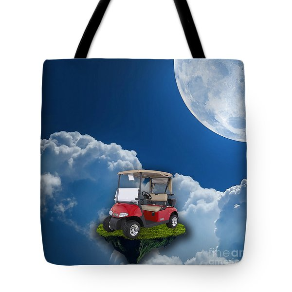 Outdoor Golfing Tote Bag by Marvin Blaine