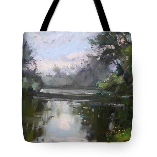 Outdoors At Hyde Park Tote Bag by Ylli Haruni
