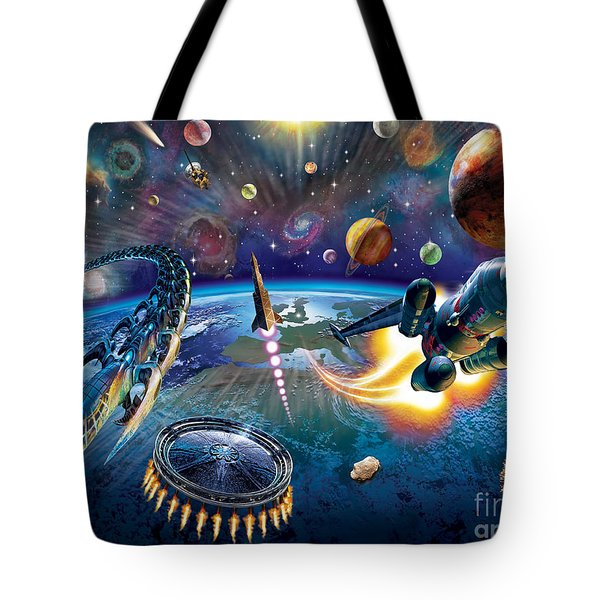 Outer Space Tote Bag by Adrian Chesterman
