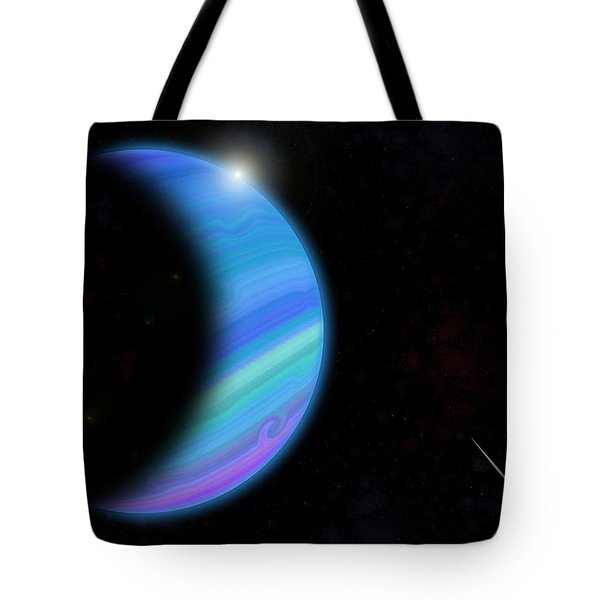 Outer Space Dance Digital Painting Tote Bag by Georgeta Blanaru