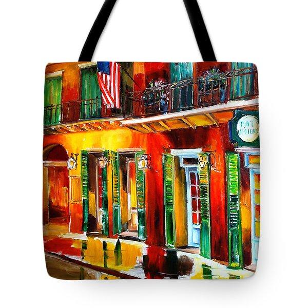Outside Pat O'Brien's Bar Tote Bag by Diane Millsap