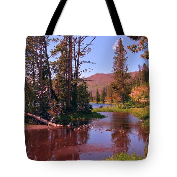 Outstanding Yellowstone National Park Tote Bag by John Malone
