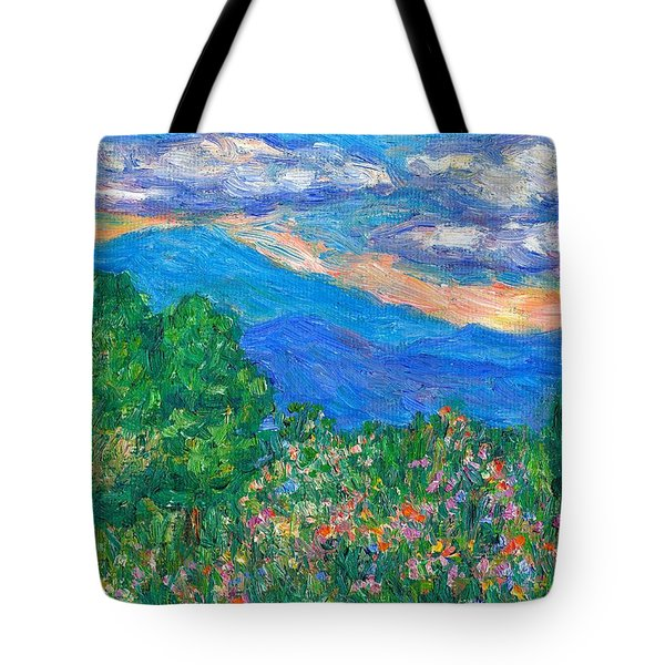 Over The Edge Tote Bag by Kendall Kessler