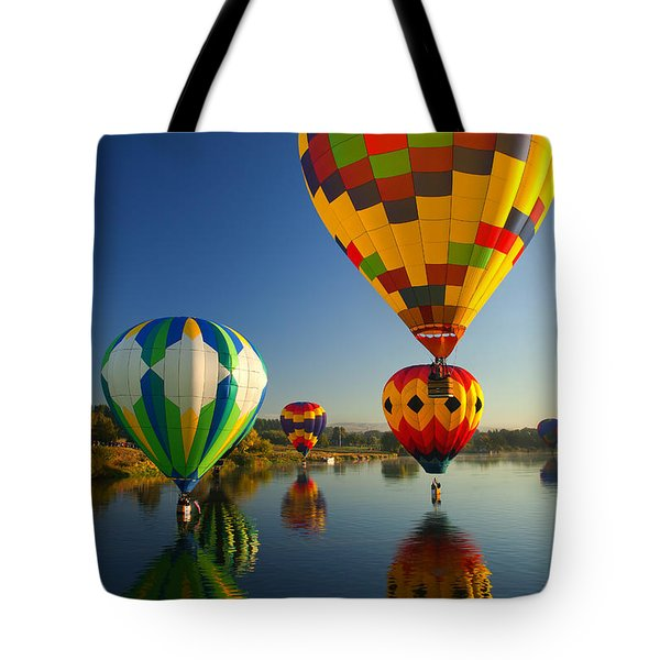 Over The Water Tote Bag by Mike  Dawson
