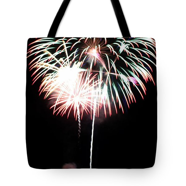 4th of July Fireworks 4 Tote Bag by Howard Tenke
