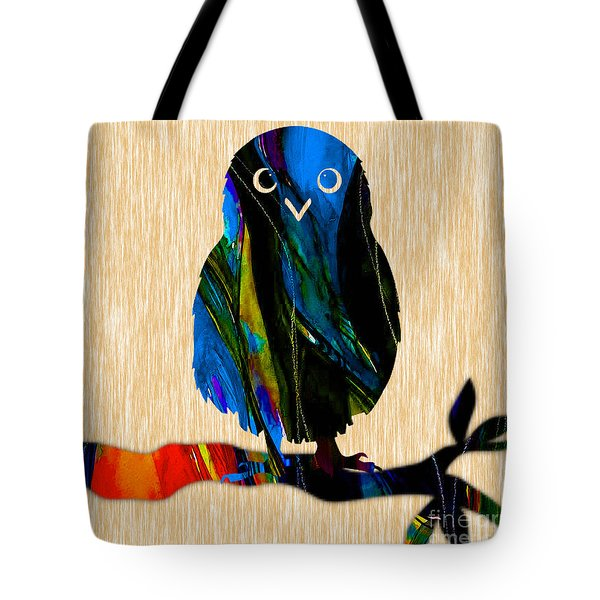 Owl Painting Tote Bag by Marvin Blaine
