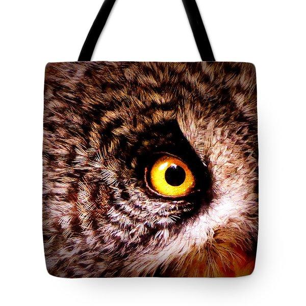Owl's Eye Tote Bag by Ramona Johnston