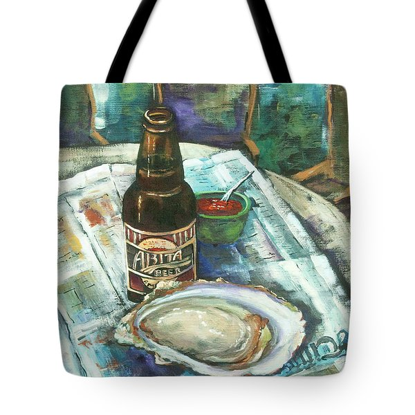Oyster and Amber Tote Bag by Dianne Parks