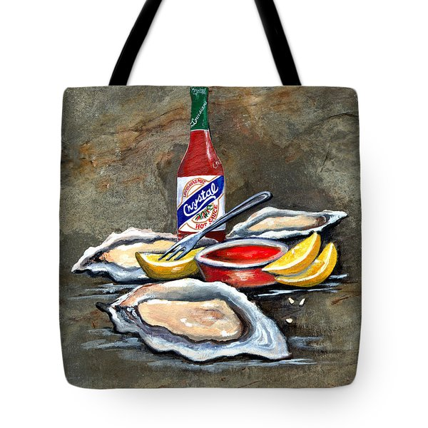 Oysters On The Half Shell Tote Bag by Elaine Hodges