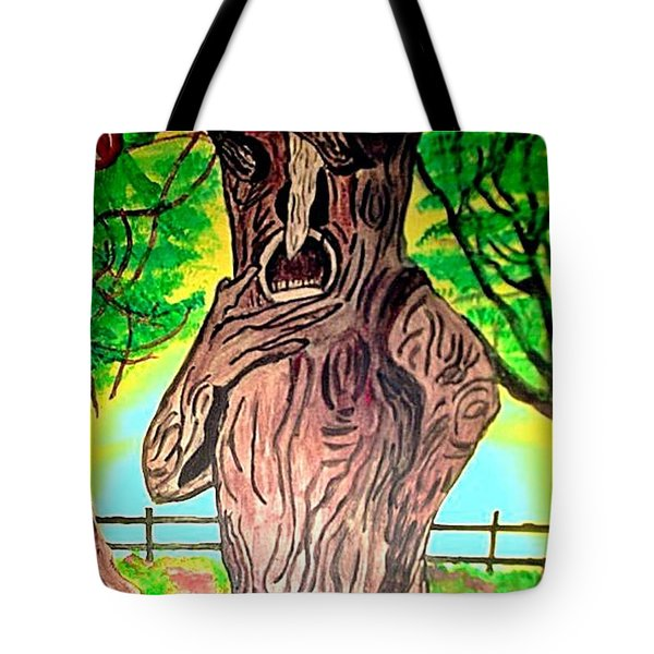 Oz Grumpy Apple Tree Tote Bag by Jo-Ann Hayden