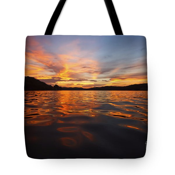 Ozark Sunset Tote Bag by Dennis Hedberg