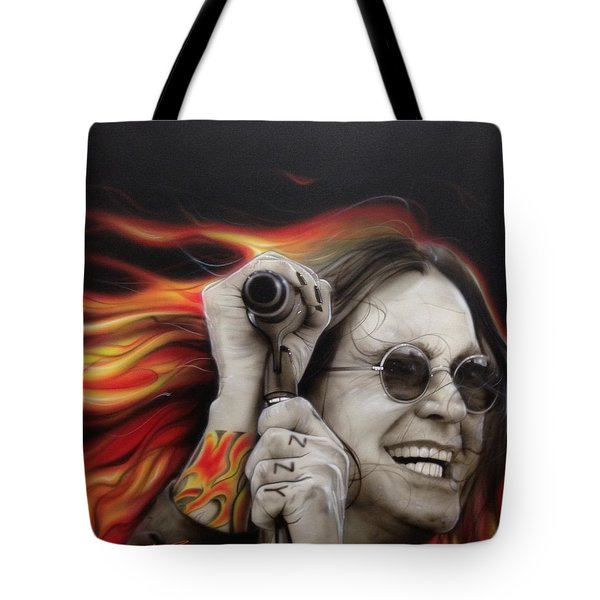 'ozzy's Fire' Tote Bag by Christian Chapman Art