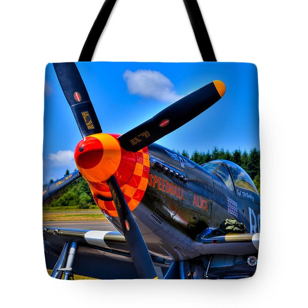 P-51 Mustang - Speedball Alice Tote Bag by David Patterson