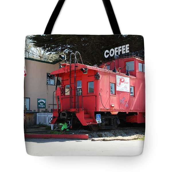 P Town Cafe Caboose Pacifica California 5D22659 Tote Bag by Wingsdomain Art and Photography