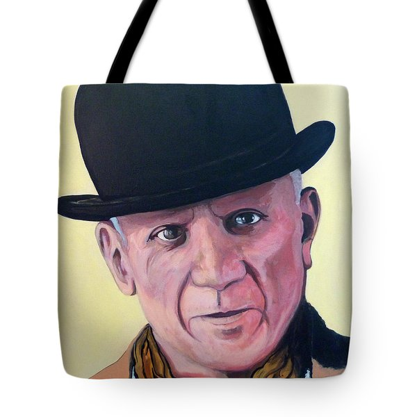 Pablo Picasso Tote Bag by Tom Roderick