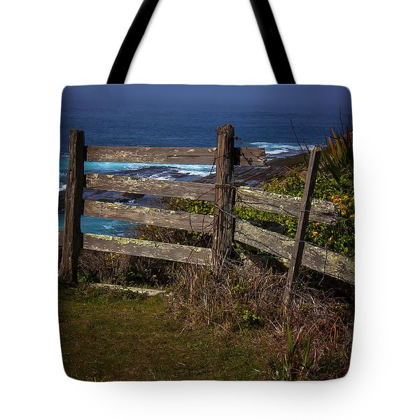 Pacific Coast Fence Tote Bag by Garry Gay