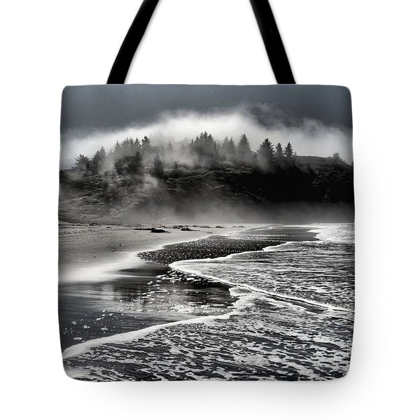Pacific Island Fog Tote Bag by Adam Jewell
