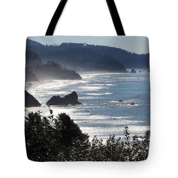 Pacific Mist Tote Bag by Karen Wiles