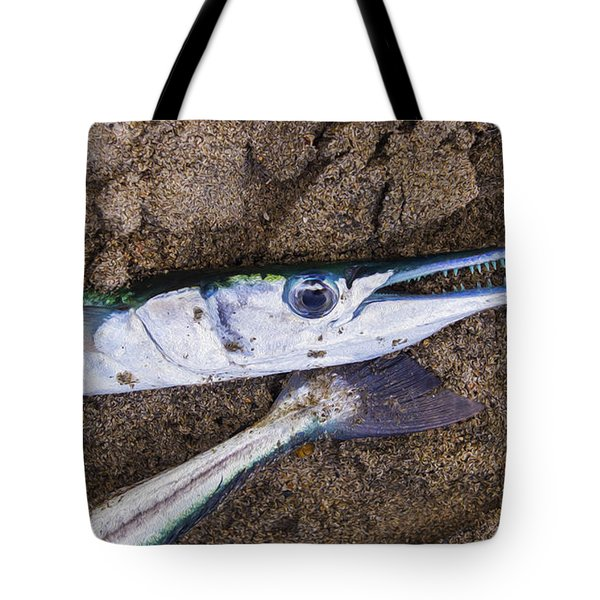 Pacific Needlefish Tote Bag by Aged Pixel