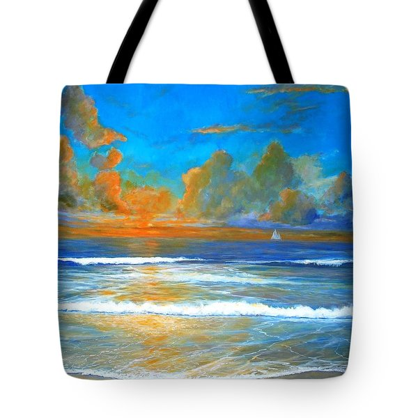 Pacific Reflections Tote Bag by Keith Wilkie