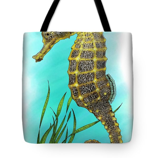 Pacific Seahorse Tote Bag by Roger Hall