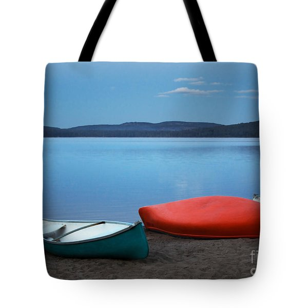 Paddle's End Tote Bag by Barbara McMahon