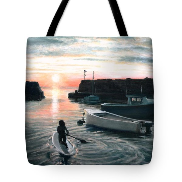 Paddling Tote Bag by Eileen Patten Oliver