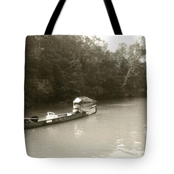 Paddling On The Current Tote Bag by Marty Koch