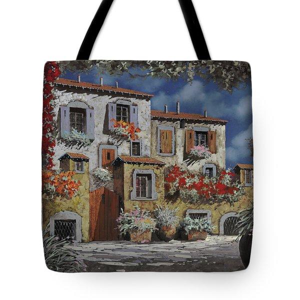 Paesaggio Al Chiar Di Luna Tote Bag by Guido Borelli