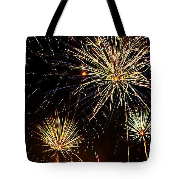 Paint the Sky with Fireworks  Tote Bag by Saija  Lehtonen