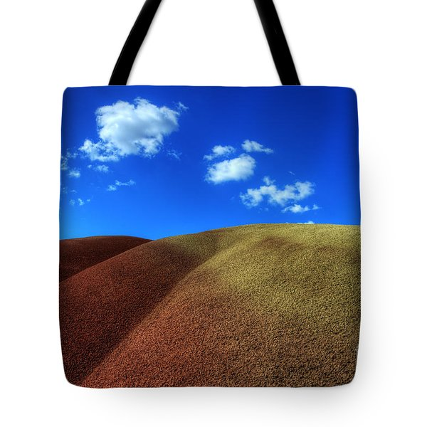 Painted Hills Blue Sky 1 Tote Bag by Bob Christopher