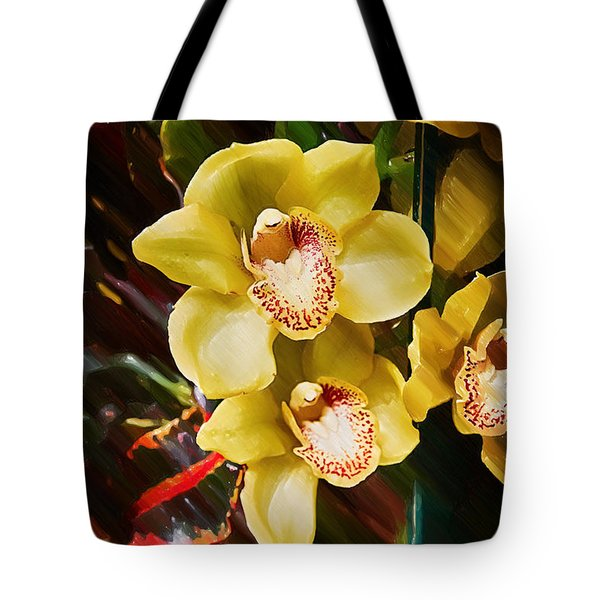 Painted Orchids Tote Bag by John Haldane