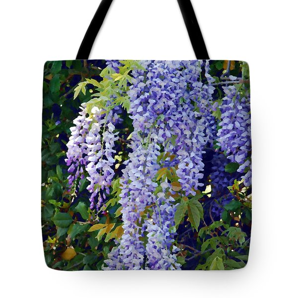 Painted Wisteria  Tote Bag by Francie Davis