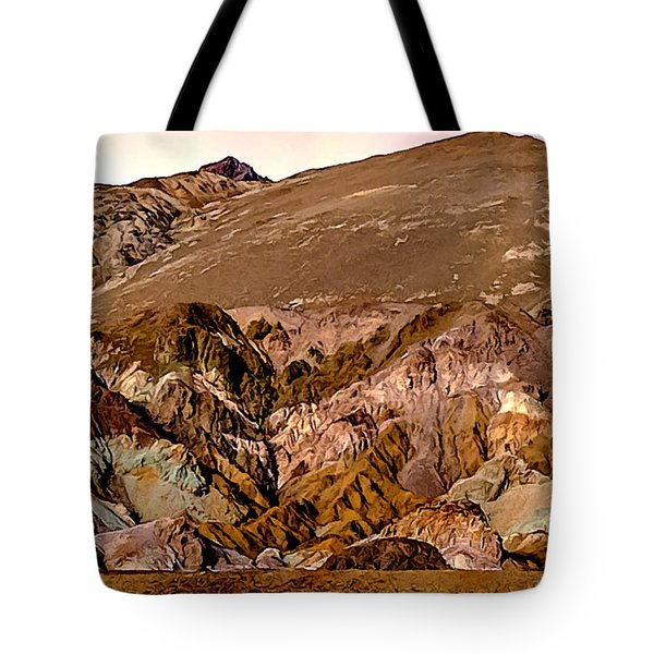 Painting Of Artists Pallete Death Valley Tote Bag by Bob and Nadine Johnston