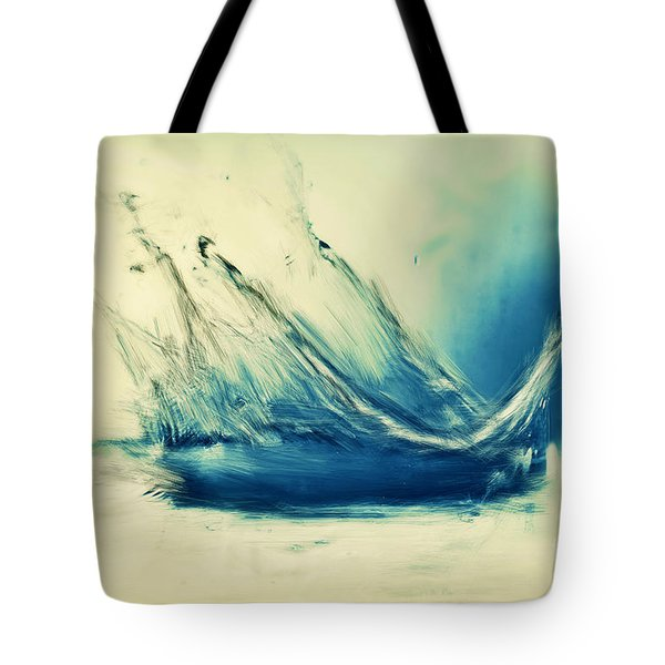 Painting Of Fresh Water Splash Tote Bag by Michal Bednarek