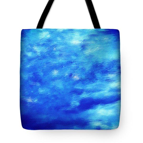 Painting Of Water Background Tote Bag by Michal Bednarek