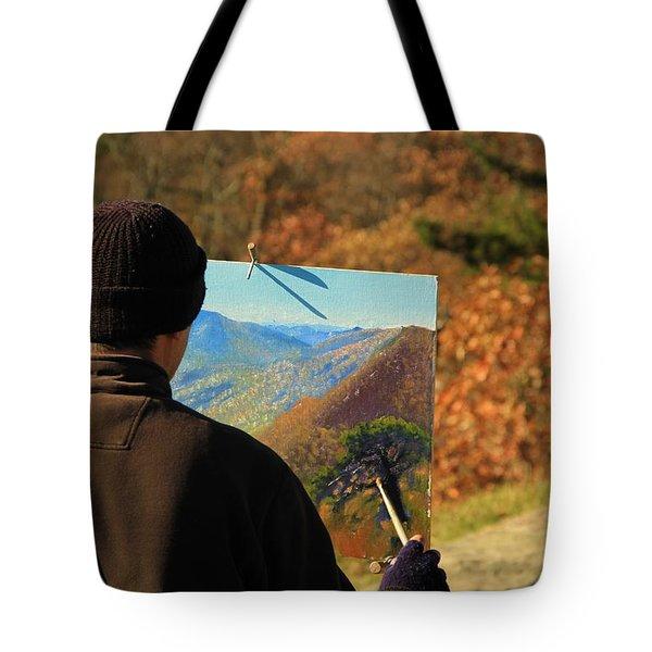 Painting Shenandoah Tote Bag by Dan Sproul