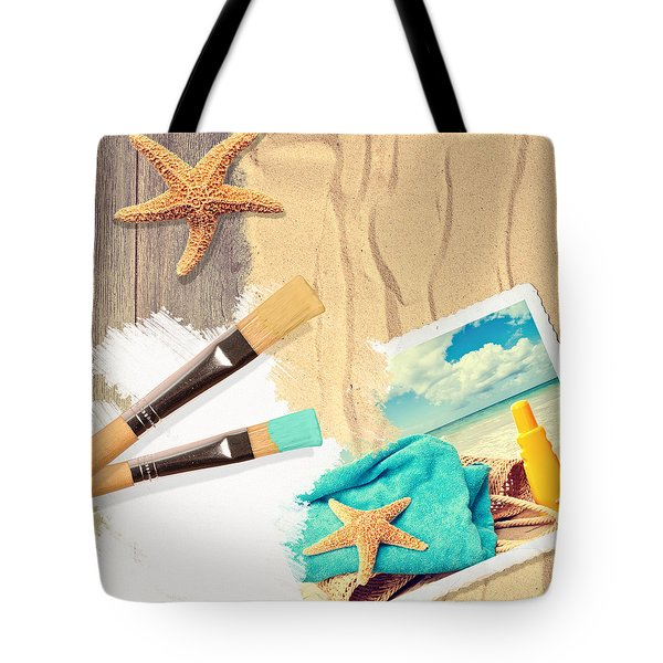 Painting Summer Postcard Tote Bag by Amanda And Christopher Elwell