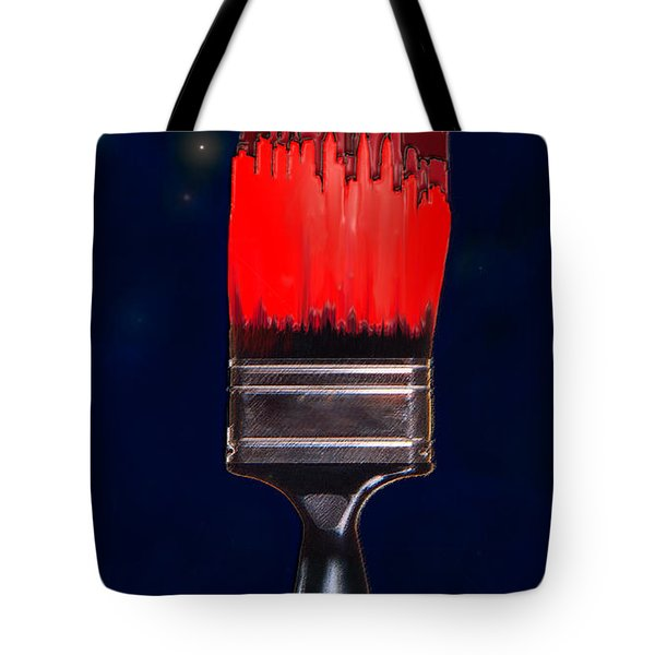 Painting The Town Red Tote Bag by Jane Schnetlage